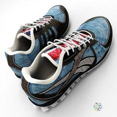 3D моделирование обуви (мужские кроссовки) #дизайн #3D #реклама #3dmodel #бизнес #услуги