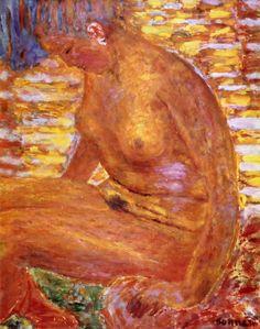 Sombre Nude by Pierre Bonnard Size: 65x81 cm Medium: oil on canvas