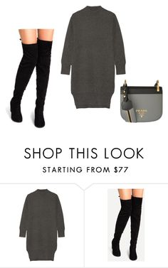 """""""Floral"""" by angel28290826 ❤ liked on Polyvore featuring DKNY and Prada"""