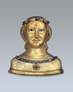 Bust reliquary of St. Ursula from Basel Cathedral Treasury Basel (?), early 14th century Silver and copper, beaten and partly gold-plated, enamel