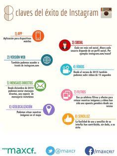Las 8 claves del éxito de #Instagram http://www.maxcf.es/infografia8-claves-exito-instagram/ #infografia