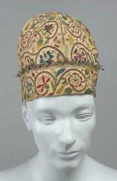 Man's cap        English, 1575–1625