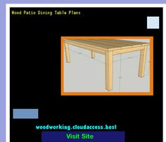 Wood Patio Dining Table Plans 231655 - Woodworking Plans and Projects!
