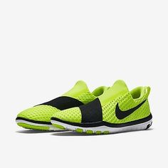 5063365f10df Nike Free Connect Training Shoes Womens Size 8 Volt Black White 843966 700