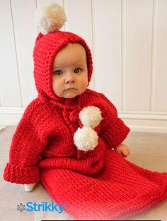 Детский спальный мешок для новорожденных и до 4 лет The First Noel, вязаный спицами   Блог elisheva.ru