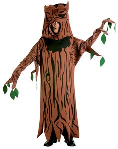 Scary Tree Adult Costume Includes tunic. Does not include pants or shoes. Weight (lbs) 1.62 Length (inches) 19.5 Width (inches) 16 Height(inches) 3
