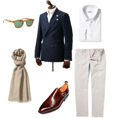 sartorialdoctrine:    The single monk strap is usually forgotten since the big brother, the double monk strap gets all the attention. However, personally I think it deserves some attention, this is an example on what you can pair them up with. Longing for some warmer weather? So do I..  Sportcoat: Lardini-Shirt: Gherardi-Scarf: Altea-Trousers: Incotex-Shoes: Carmina-Sunglasses: Moscot