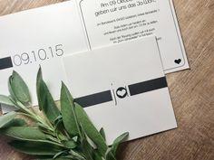 """Einladungskarte """"Schlichte Eleganz"""" Modern zur Hochzeit Modern, Create Quotes, Invitation Text, Simple Elegance, Invitations, Birth"""