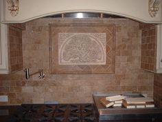Style...not tree...embossed.  backsplash ideas for kitchen | ... Wallpaper Tile backsplash ideas 1600x1200 cape cod kitchen renovation