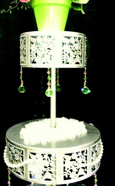 Cake Stand with Magnetic Swarovski Crystals