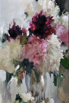 Red and White Flowers - Nikolai Blokhin - AVIMOS ART USA-ONLY THE BEST ART
