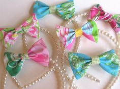 Bows and Pearls! WANT