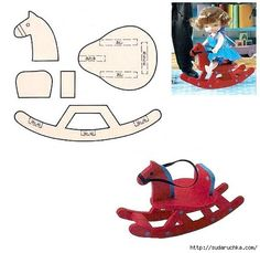Miniature toy rocking horse plans