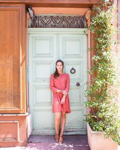 Pastel doors are made to be posed in front of...