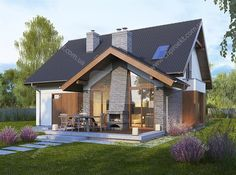 One of the design houses that are currently popular is a minimalist house design. Minimalist house a variety of models . Modern Wooden House, Wooden House Design, Wooden Houses, Village House Design, Village Houses, Minimalist House Design, Minimalist Home, Style At Home, Design Exterior