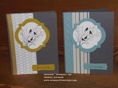 stampin up serene silhouettes card ideas | ... hand card. Originally I used the same piece for both of the cards