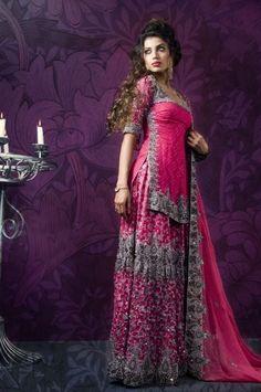 Lengha - would love design in light blue or pink or lavender