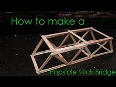 How to make a Popsicle Stick Bridge - YouTube