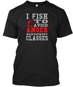 I Love Fishing T Shirt  Black Kaos Front