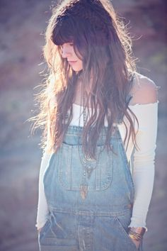 off the shoulders and overalls