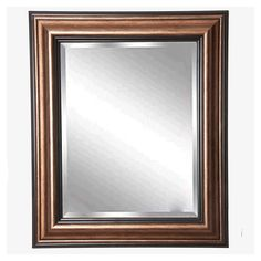 "Rayne Mirrors Home Decorative Canyon Bronze Rectangle Framed Wall Mirror 41.5""""x 35.5"""""