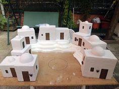 Christmas Village Display, Christmas Nativity, Christmas Crafts, Christmas Crib Ideas, Christmas Time, Xmas, Nativity House, Journey To Bethlehem, Kitchen Sets For Kids