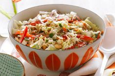 Thai Slaw Recipe - crunchy vegetable slaw with Asian flavours.