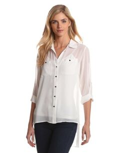Kenneth Cole Womens Blouse with Layered Back
