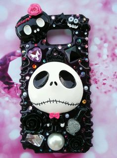 Fitted handmade phone case fo ALL iPhone models nightmare before Christmas Jack  #Samsungphonecase