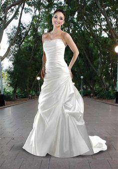 DaVinci Bridal - 8420.  A-line Satin. <$600.