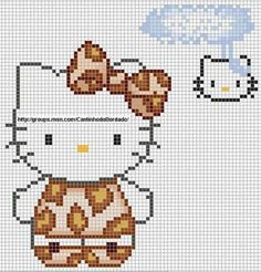 Hello Kitty Autumn hama perler beads pattern