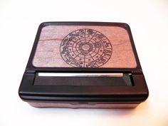 Zodiac BLACK Cigarette Case & Roll Box : Leo Libra Cancer Aries Virgo Scorpio Sagittarius Aquarius Gemini Pisces Taurus Capricorn by ResoluteStar