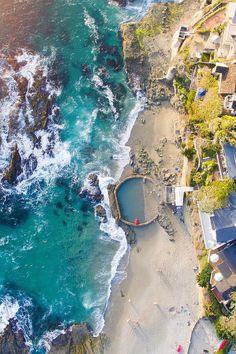 Victoria Beach Lighthouse in Laguna, California, USA