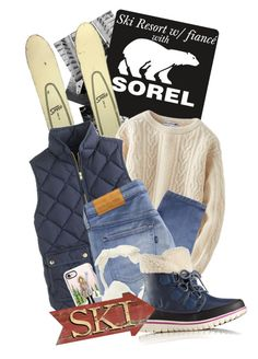 """""""Kick Up the Leaves (Stylishly) With SOREL: CONTEST ENTRY"""" by hirosho ❤ liked on Polyvore featuring SOREL, Uniqlo, J.Crew, Casetify, Levi's Made & Crafted and sorelstyle"""