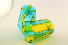 "Handmade Murano Glass Blown Drinking Glasses ""VASO HANDI"" (€65 each) Personal Taste, Positive And Negative, Semi Transparent, Aquamarine Blue, Shot Glasses, Murano Glass, Special Gifts, Drinking, Objects"