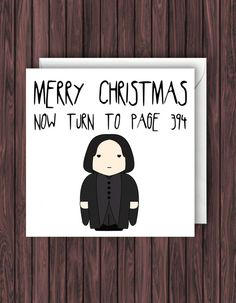 Snape Christmas. Harry Potter Christmas Card. Geek Blank Card. Funny Greetings Card.  affiliate