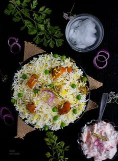 This veg dum biryani featuring alternating layers of vegetable masala and spiced rice is perfect for your next lunch or dinner. Vegetable Recipes, Vegetarian Recipes, Healthy Recipes, Rice Recipes, Dinner Recipes, Healthy Foods, Biryani Recipe Video, Vegetable Masala, Traditional Indian Food
