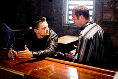 Leonardo DiCapro with David O'Hara in the Departed. Top Movies, Great Movies, Movies To Watch, Netflix Movies, Gabriel Byrne, Martin Sheen, Alec Baldwin, Matt Damon, Mark Wahlberg