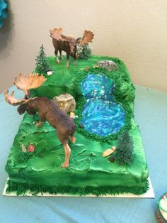 Wilderness cake, moose cake