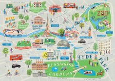 London map by anna simmons