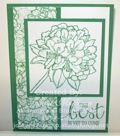 Monochramatic Card featuring NEW In Color Mint Macaron and  Best Thoughts stamp set from the Stampin' Up! 2015-2016 Annual Catalog - Created by Joanne Mulligan, Independent Stampin' Up! Demonstrator