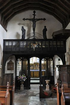 Stanton St Michael Rood screen by Sir Ninian Comper 1917 -177