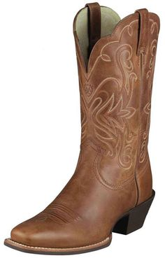 i need some brown boots... Ariat Women's Legend Cowboy Boots - Russet Rebel