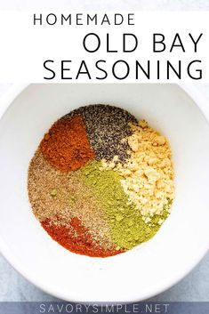 Homemade Old Bay Seasoning Recipe - Savory Simple - - Got a recipe calling for Old Bay? Make homemade Old Bay Seasoning mix using the spices in your pantry! This will give you control over the saltiness. Homemade Spice Blends, Homemade Spices, Homemade Seasonings, Spice Mixes, Homemade Old Bay Seasoning Recipe, Homemade Recipe, Tandoori Seasoning Recipe, Seafood Boil Seasoning Recipe, Seasoning For Fish