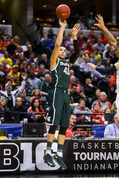 #45  Denzel Valentine, Sophomore  ~  12 points in win over Wisconsin GO  GREEN