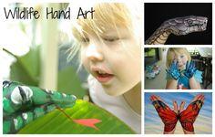 Wildlife Hand Art - Inspired by Guido Daniele