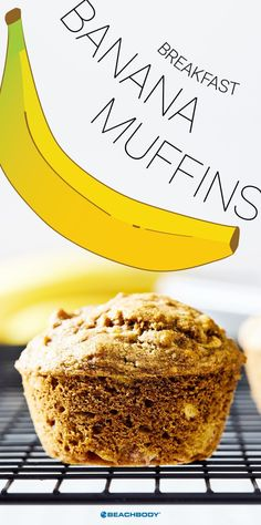 These delicious banana muffins made with wholesome ingredients are healthy and satisfying enough to eat for breakfast. Plus, they taste like banana bread! // healthy recipes // breakfasts // baking // Day Fix Recipes Vegetarian) Healthy Banana Muffins, Healthy Breakfast Recipes, Healthy Snacks, Healthy Recipes, Healthy Kids, Breakfast Cooking, Healthy Eating, Yummy Recipes, Vegetarian Recipes