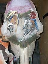 painted cow skulls   cow skulls