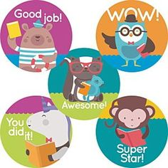 Reward and motivate #1000BooksBeforeKindergarten participants with these cute stickers! 1000 Books Before Kindergarten, Early Literacy, Cute Stickers, Motivation, Reading, Reading Books, Inspiration
