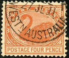 Western Australia  1905 Scott 93 4d orange brown Wmk 13